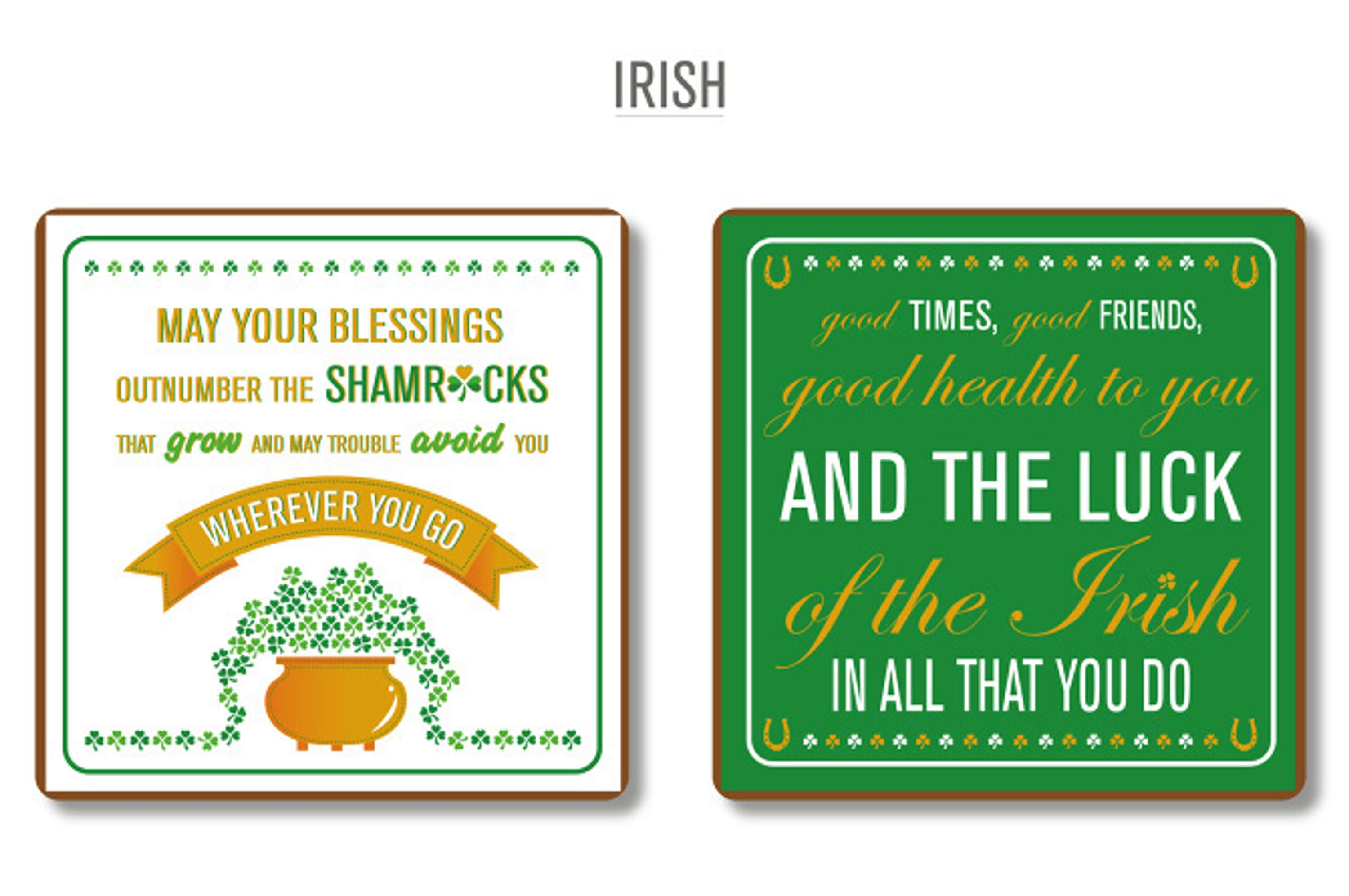 Shamrock Gift Company Typographical Coasters The Dots