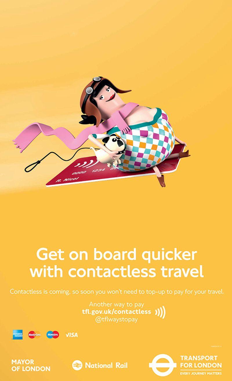 Poster design jobs london - Tfl Contactless Travel By Job Joris Marieke Jelly London